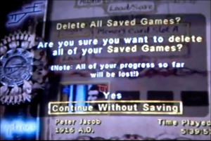 Go on, tell it to continue without saving. IT DOESN'T HELP.