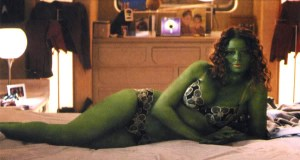 Look guys! It's the green alien woman that you all know and love! We're still cool right?